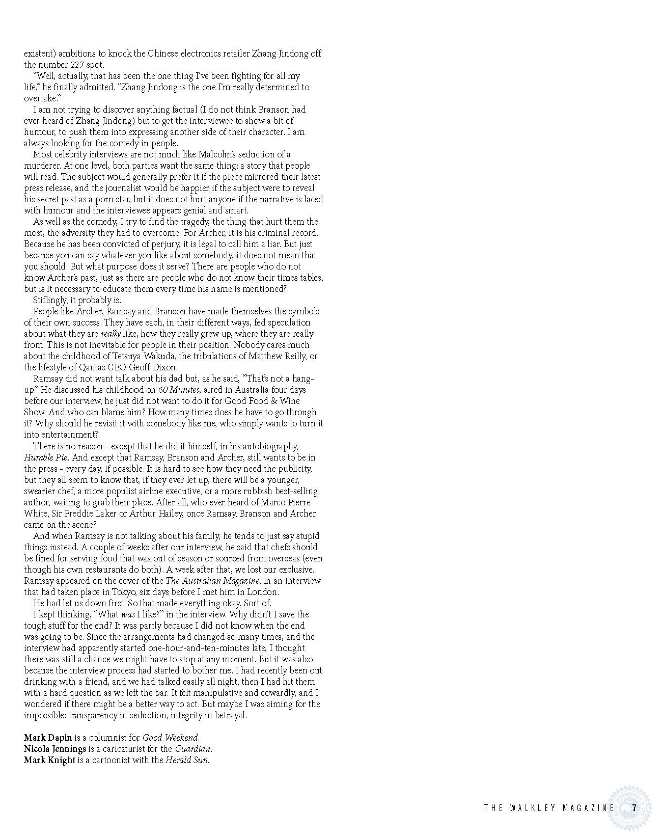 Walkley Magazine - Given a Grilling 3